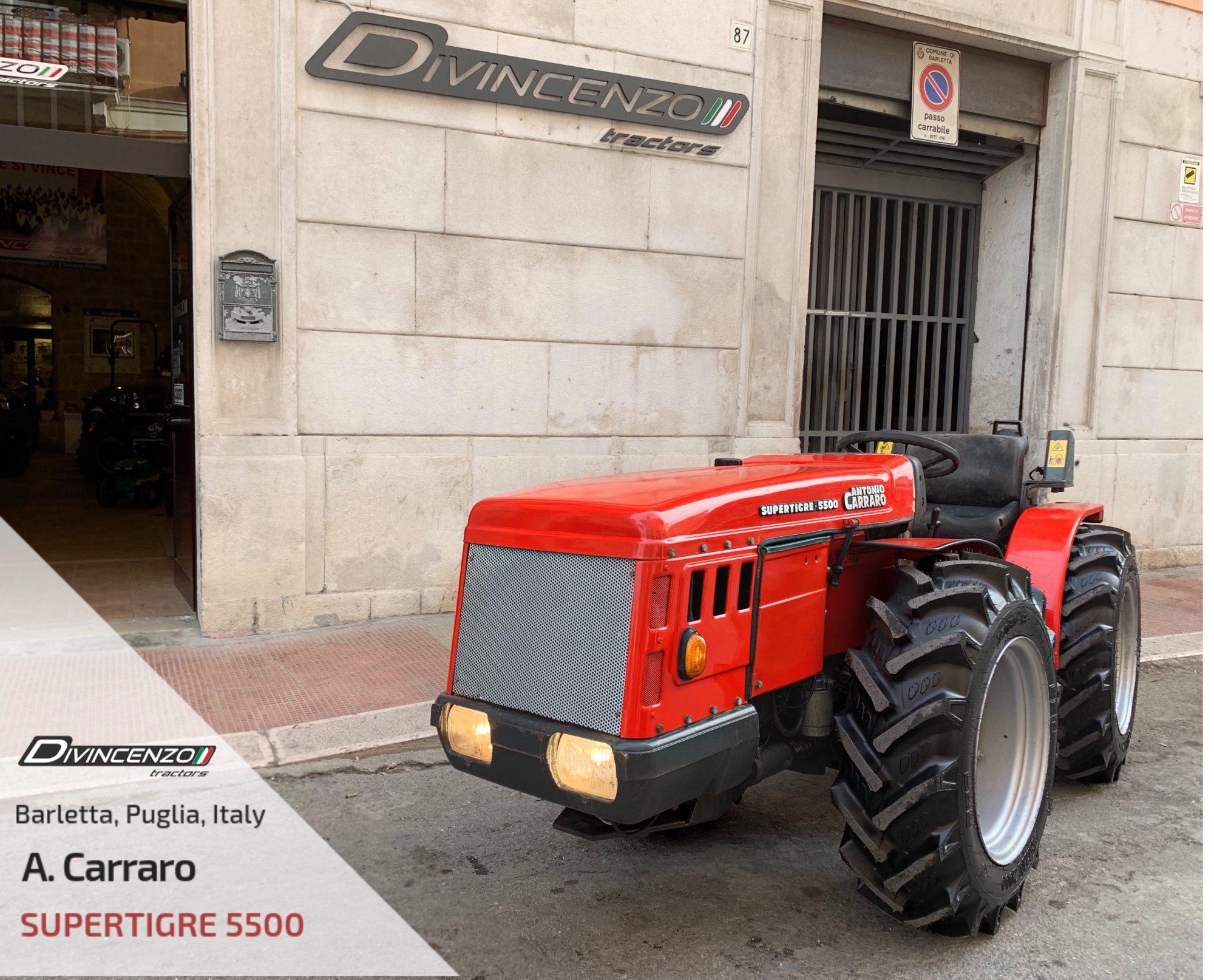 Antonio Carraro 5500 Divincenzo Tractors Vendita